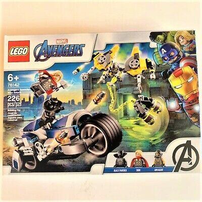 LEGO MARVEL AVENGERS 226 pcs SPEEDER BIKE ATTACK 76142 Black Panther and Thor