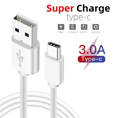 USB C Fast Charge Charger Charging Data Long Cable 1m Type C...