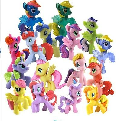 10PCS/Lot My Little Pony Action Figures Rarity Celestia Princess Luna Pony Gift