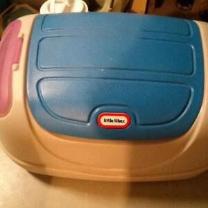 Little tikes toy box with side compartments & Rocking Elephant
