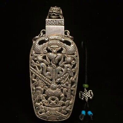 Chinoiserie vintage style antique Chinese pendant bottle1.1