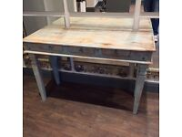Turquoise distressed console