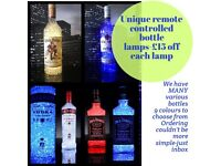 Remote controlled crystal gel lamps
