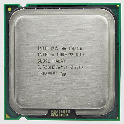 Intel Core 2 Duo E8600 3.33 GHz Core 2 Duo LGA775 Socket CPU Processor SLB9L