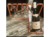 Hand crafted wine rack and glass holder