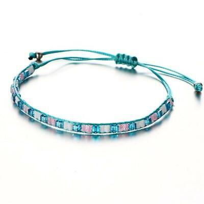 IF ME Bohemian Crystal Beads Friendship Braided Rope Bracele
