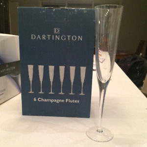 Champagne Flutes - set of six, still in the box
