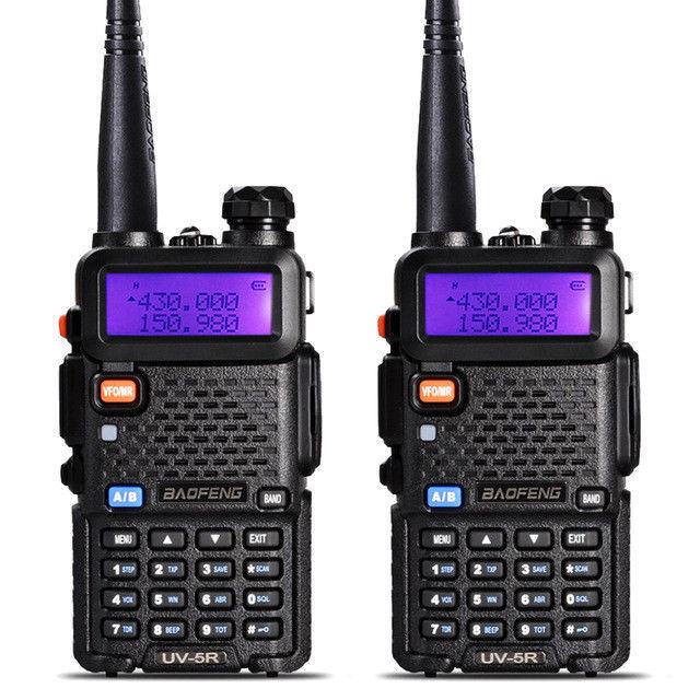 2PCS Baofeng UV-5R Walkie Talkie Headset VHF UHF Ham Portabl