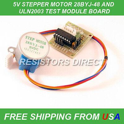 Stepper Motor 28byj-48 Test Module Board Uln2003 5 Line 4 Phase Arduino