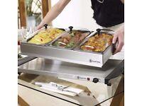 Russell Hobbs Hot Tray and Buffet Server in Stainless Steel