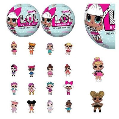 2 X Lol Surprise Dolls Series 1 Wave 1 Blind Balls 7 Layers Of Fun