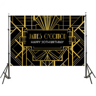 Great Gatsby Birthday (Gold Color Great Gatsby Photography Backgrounds Birthday Photo Studio)