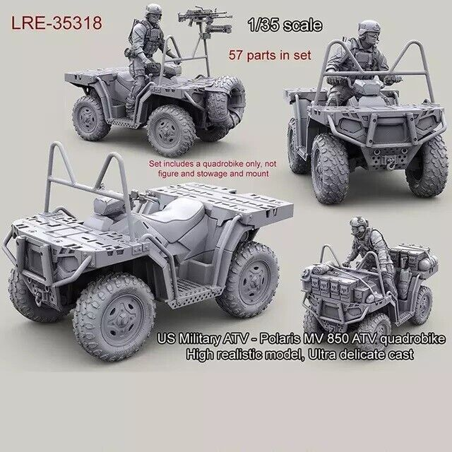 1 35 Resin Figure Model Kit Us Military Atv Polaris Quadrobike Unpainted Unassam Ebay