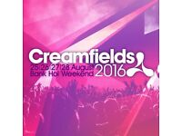 Creamfields August 2016 Standard 3 Day Camping Ticket