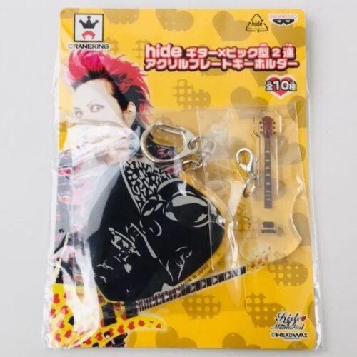 hide Guitar & Pick Acrylic Plate Keychain - ever free - X JAPAN YOSHIKI