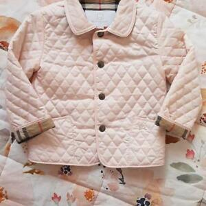 BURBERRY QUILTED PINK BABY GIRL JACKET 24M