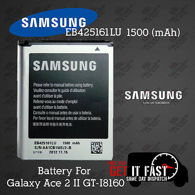 100% NEW BATTERY SAMSUNG GALAXY ACE2 GT-I8160 EB-425161LU 1500 MAH 4Pin 2...