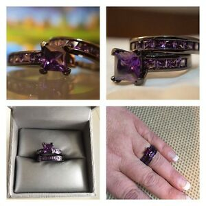 BEAUTIFUL••••Purple Sapphire Ring Set!!!