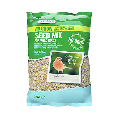 Gardman No Grow Seed Mix 20kg, Wild Birds Care, Food Pack