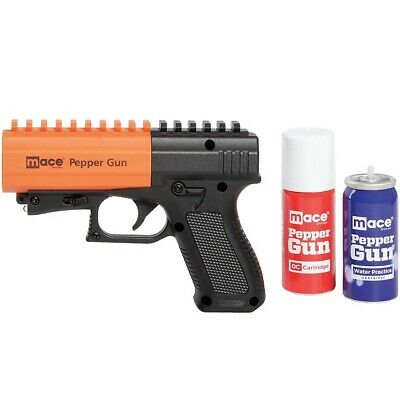 Mace 80406 Black & Orange Pepper Gun 2.0 w/7 Bursts & 20' Range