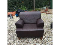 Very Nice Brown Leather Armchair in great condition
