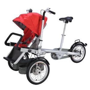 Taga bike, mère enfant tricycle poussette pliante