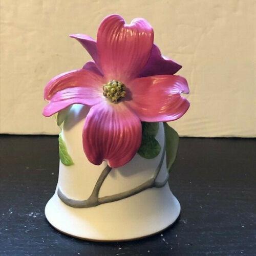 "Franklin Mint Porcelain Bell ""Flowering Dogwood"" By Jeanne Holgate Hand Painted"