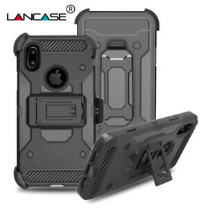 Shockproof Case For iPhoneX,Xs Silicon Hybrid Hard Stand Holder