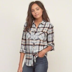 ABERCROMBIE & FITCH PLAID BUTTON DOWN-NEW!