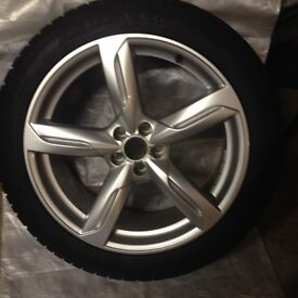 """Audi Q5 alloy wheels (20"""") complete with Dunlop Winter Sport 3D tyres (255/45r20)"""