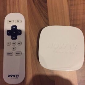 NOW TV Box - Excellent working order. All Cables supplied.