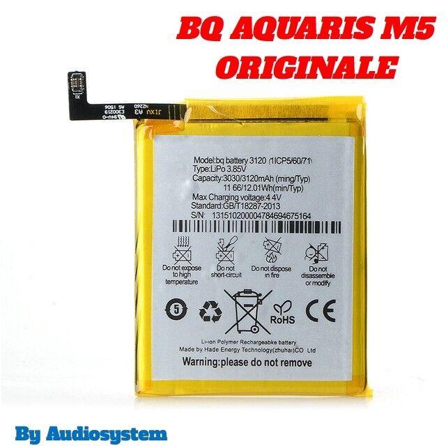 BATTERIA ORIGINALE BQ PER AQUARIS M5 4G LTE 3120MAH POLIMERI LITIO NUOVA