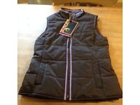 Brown Ariat riding vest/ gilet with purple detail, girl's / kids Xl