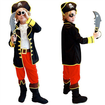 Boys Costumes For Halloween (kids boys pirate costume cosplay costumes set halloween costumes for children)