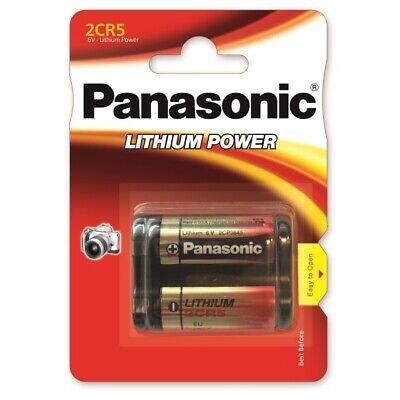 1 x Panasonic 2CR5 DL245 2CR5M Lithium Power Photo Batterie 6V im Blister