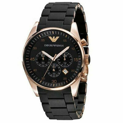 Emporio Armani AR5905 Black and Gold Chronograph Dial 43mm Men's Watch
