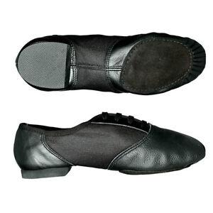 capezio jazz shoes black leather split sole 458 ebay