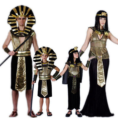 Egyptian Halloween Costumes For Adults (Egyptian Pharaon King Costume for Purim Halloween Adults/Childs Fancy)