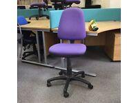 Purple Fabric Operators Chair