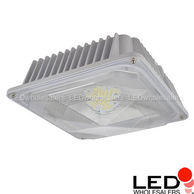 60-Watt Outdoor LED Canopy Ceiling Light Fixture UL-Listed,