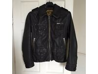 Superdry leather jacket (M)