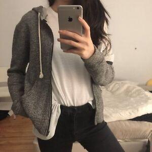 Heather Grey / Salt & Pepper Hoodie from Korea