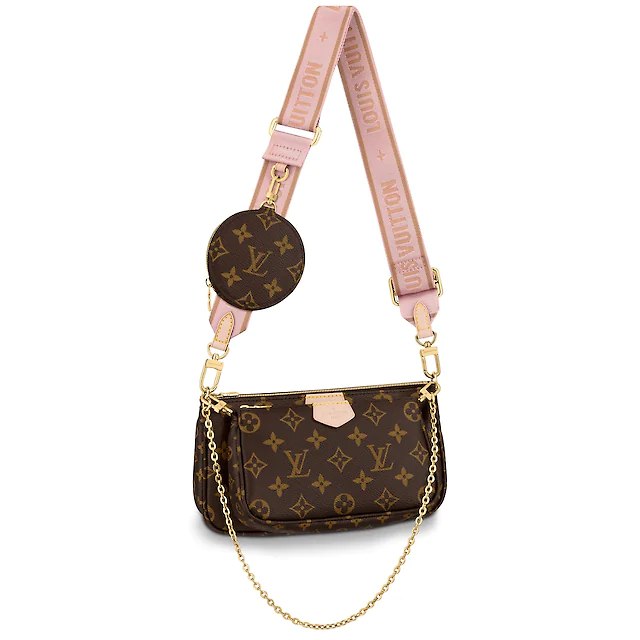 Brand New Louis Vuitton Multi Pochette Rose Clair Crossbody