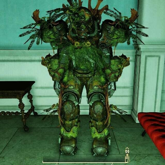 Fallout 76-Xbox-Strangler Heart Power Armor Full Set Modded w/Calibrated shocks