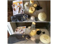 Medela swing breast pump with calma teat + lots of extra's