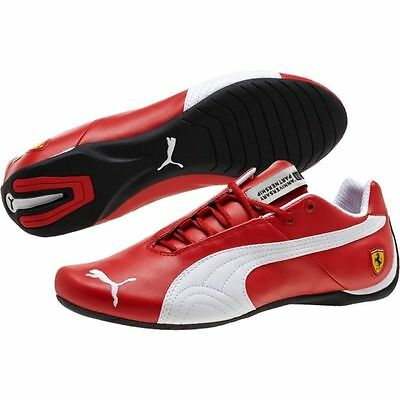110 Nib Mens Puma Ferrari Future Cat Leather Sf 10 305470 01 Red