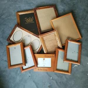 Assorted picture frames 5x7 to 8x10 some oak