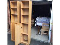 Two Wooden Bookshelves for Sale for £40