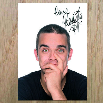"ROBBIE WILLIAMS Signed Photo....LOOK...BIGGER....8"" X 6"""
