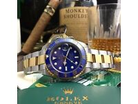 Rolex Submariner Bi Metal Steel And Yellow Gold 11613LB Blue Sunburst Dial Watch